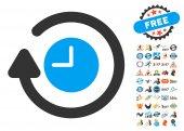 Repeat Clock Icon With 2017 Year Bonus Pictograms