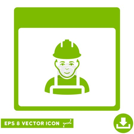 Worker Calendar Page Vector Eps Icon