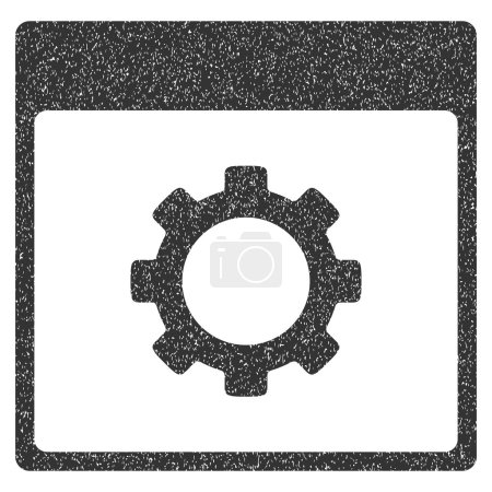 Gear Options Calendar Page Grainy Texture Icon