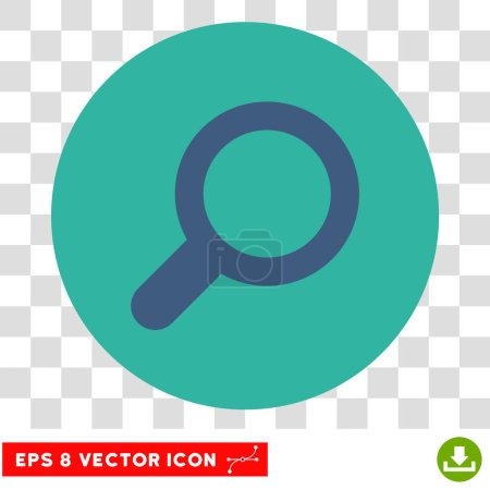 Magnifier View Tool Round Vector Eps Icon