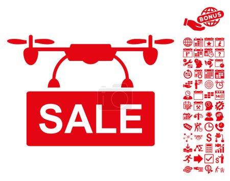 Drone Sale Icon With Bonus