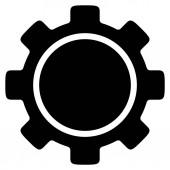 Ploché ikony s ozubeným kolem