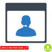 Call centrum správce kalendáře stránky vektorové Eps ikona