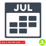 July Calendar Grid icon. Vector EPS illustration s...