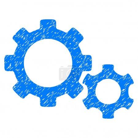 Gears Grainy Texture Icon