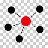 Connections icon Vector illustration style is flat iconic bicolor symbol intensive red and black colors transparent background Designed for web and software interfaces