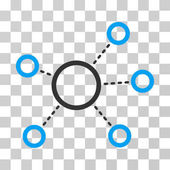 Virtual Connections icon Vector illustration style is flat iconic bicolor symbol blue and gray colors transparent background Designed for web and software interfaces