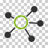 Connections icon Vector illustration style is flat iconic bicolor symbol eco green and gray colors transparent background Designed for web and software interfaces