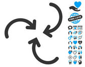 Whirl Arrows Rounded Icon with Lovely Bonus
