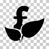 Agriculture Pound Startup vector icon Illustration style is a flat iconic black symbol on a transparent background