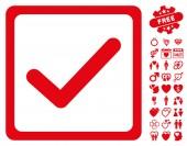 Casella di controllo icona con Bonus di San Valentino