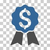 Banking Award icon Vector illustration style is flat iconic bicolor symbol cobalt and gray colors transparent background Designed for web and software interfaces