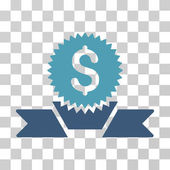 Banking Award icon Vector illustration style is flat iconic bicolor symbol cyan and blue colors transparent background Designed for web and software interfaces