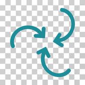 Whirl Arrows Vector Icon
