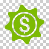 Money Sticker icon Vector illustration style is flat iconic symbol eco green color transparent background Designed for web and software interfaces