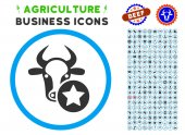 Cow Favourites Rounded Icon with Set