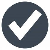 Ok lapos Vector Icon