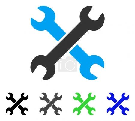 Wrenches Flat Icon