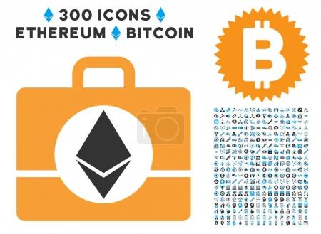 Ethereum Case Flat Icon with Collection