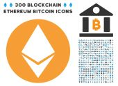 Ethereum Flat Icon with