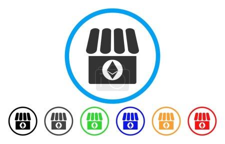 Ethereum Shop Flat Icon
