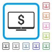 Financial Monitoring Framed Icon
