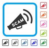 Scam Alert Megaphone Framed Icon