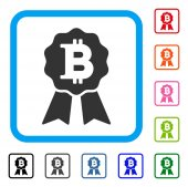 Bitcoin Certificate Seal Framed Icon