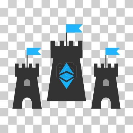 Ethereum Classic Fortress Vector Icon