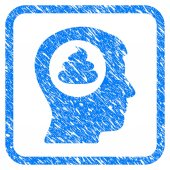 Shit Idea Head Framed Grunge Icon