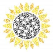 Sunflower Collage of Dollar