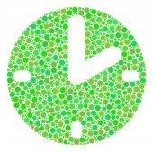 Clock Mosaic of Dots
