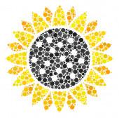 Sunflower Mosaic of Dots