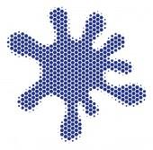 Hexagon Halftone Blot Icon