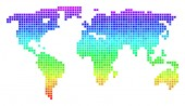 Colored Dotted World Map