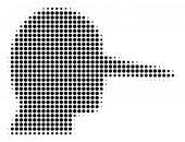Black Dot Lier Icon
