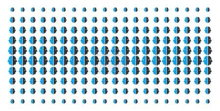 Dual Face Shape Halftone Grid
