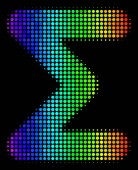 Spectral Colored Dot Sum Icon