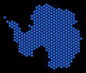 Hexagon Antarctica Map