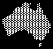 Hex Tile Australia Map