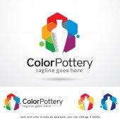 Color Pottery Logo Template Design Vector