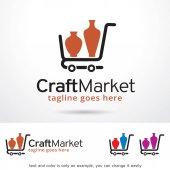 Craft Market Logo Template Design Vector