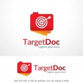 Target Document Logo Template Design Vector