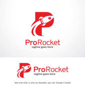 Letter P Rocket Logo Template Design Vector Emblem Design Concept Creative Symbol Icon