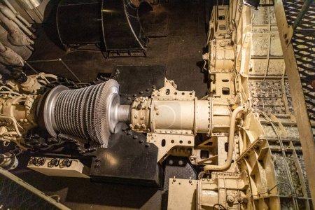 Foto de El área mecánica del barco. compartimiento de motores. - Imagen libre de derechos