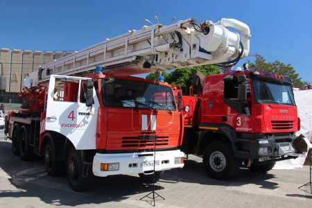 Russian fire truck lift with
