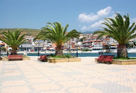 Quay in the resort town of Neos Marmaras on the peninsula of Sit