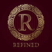 Golden logo template for refined boutique Vector monogram