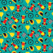 Seamless pattern with racing cars