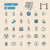Set of 32 perfect icons for exhibition and business technology